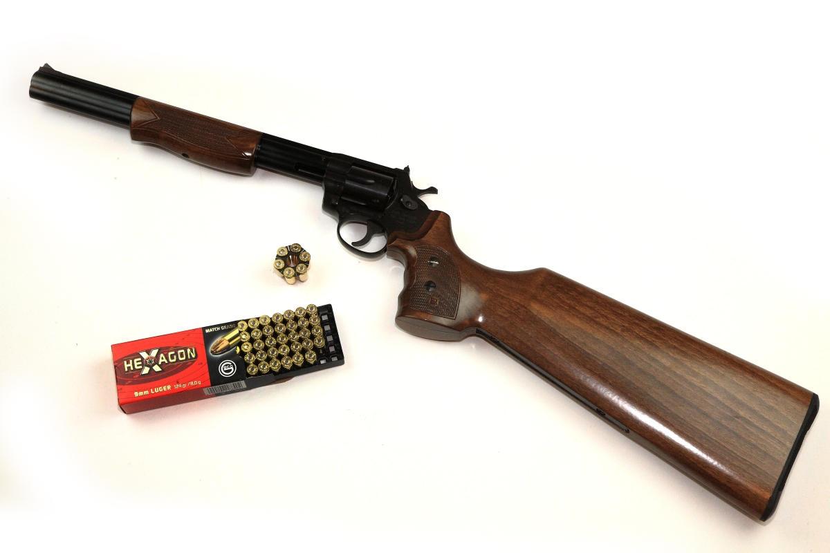 Alfa Proj Revolver Carbine, 9x19mm