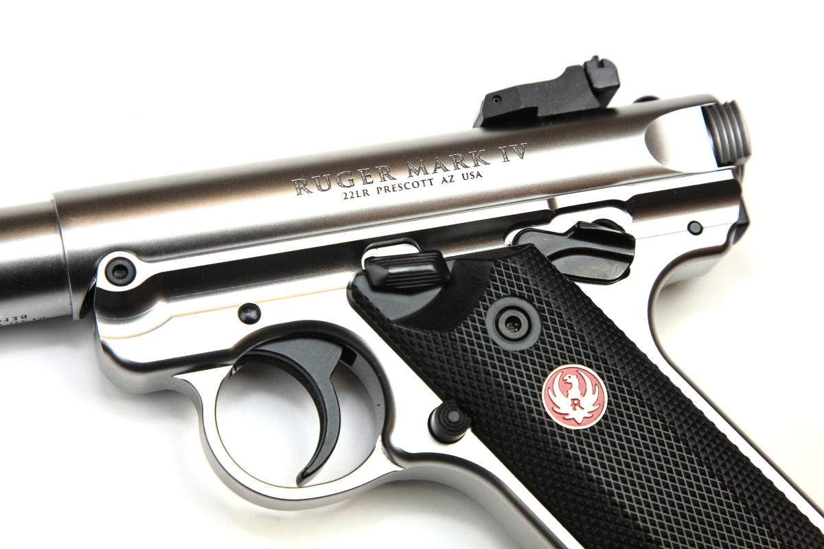 Ruger Mark IV Target Pistole stainless
