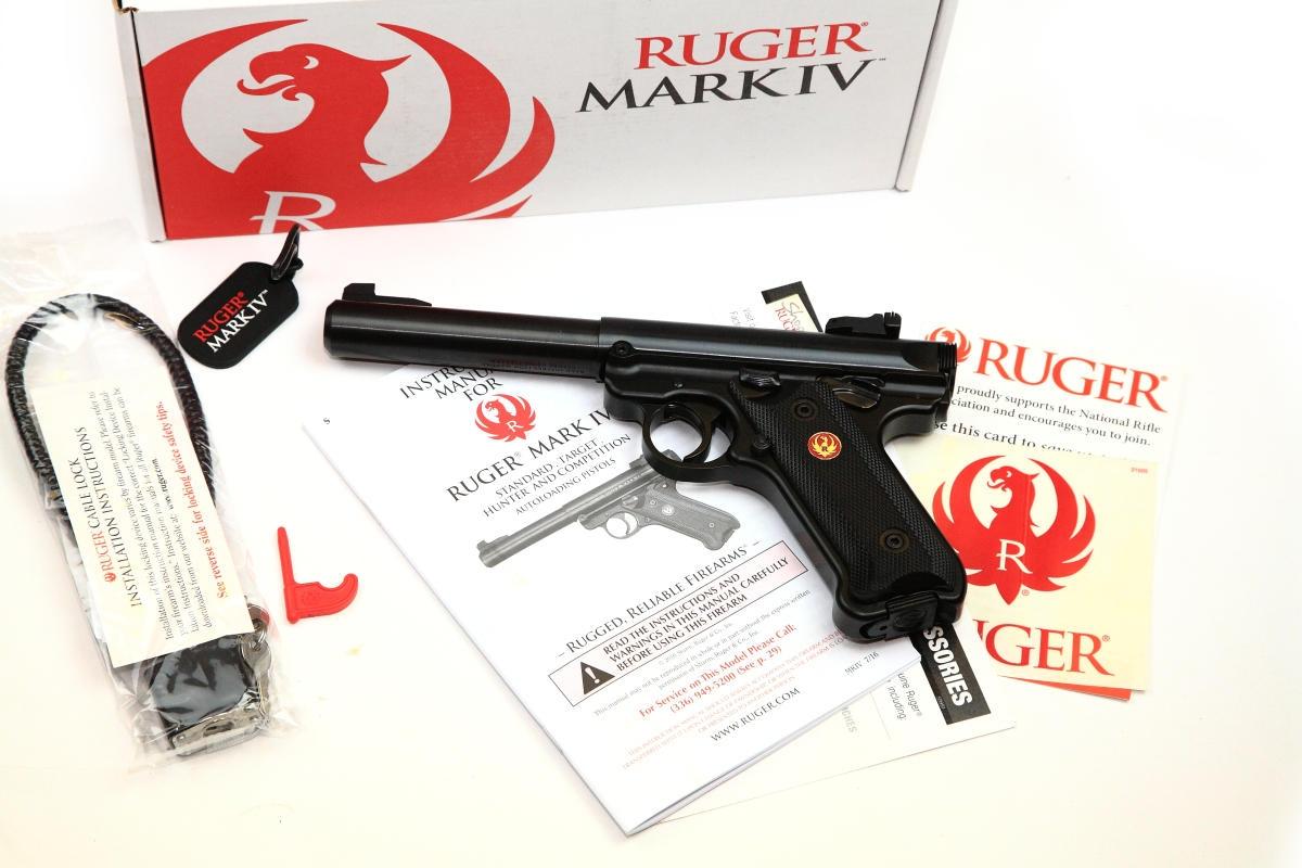 Ruger Mark IV Target Pistole schwarz