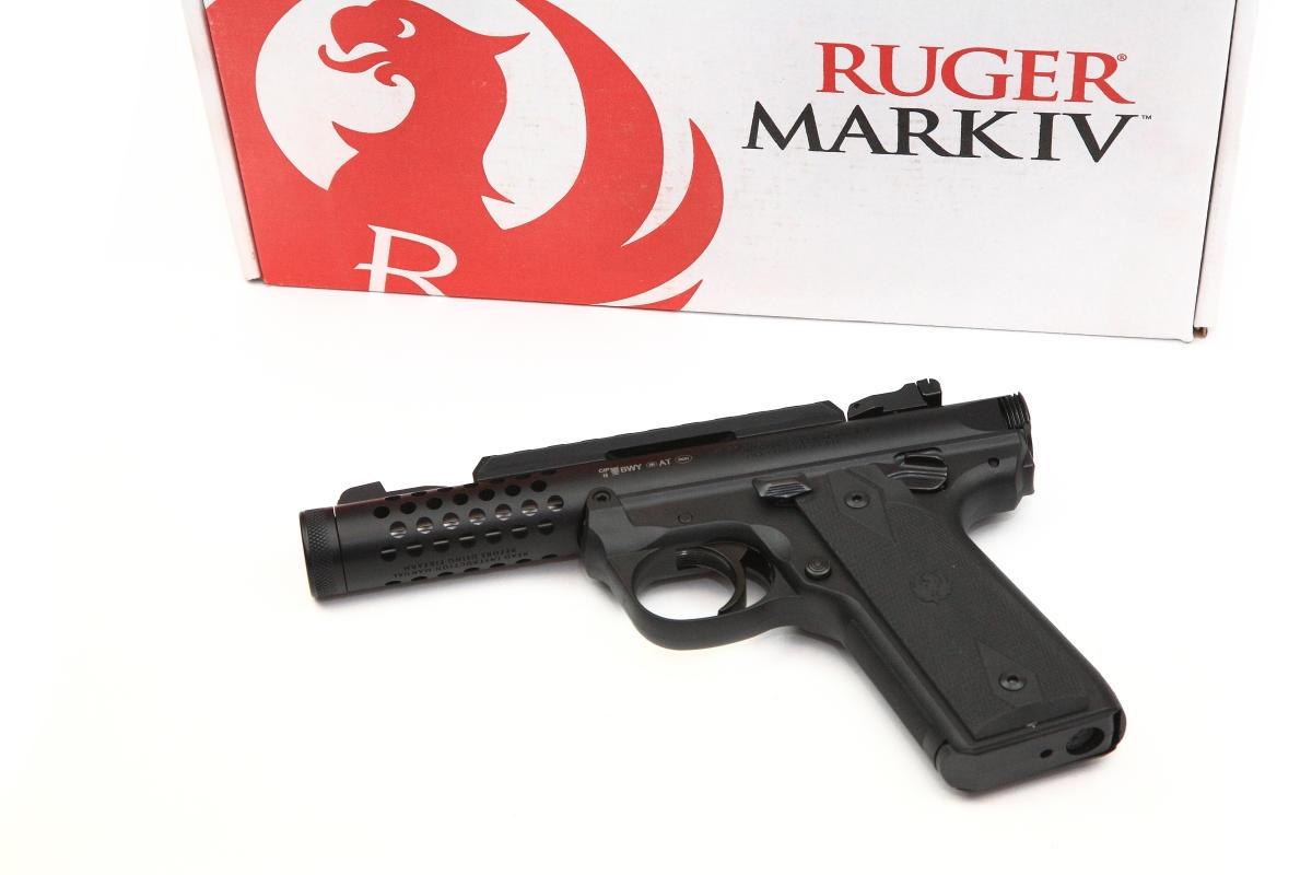 Ruger Mark IV LITE Pistole schwarz .22lr