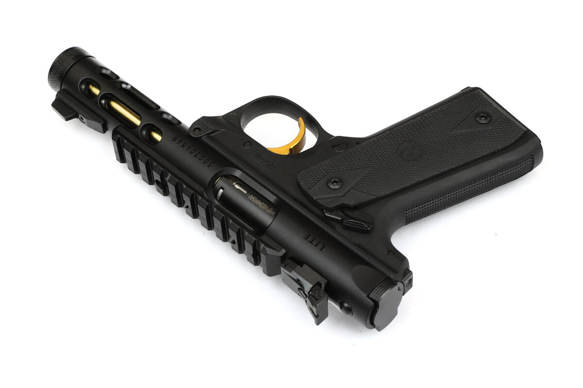 Ruger Mark IV 22/45 LITE Pistole schwarz/gold